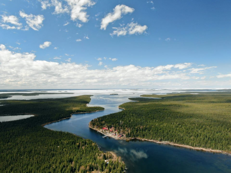 Aerial photo of Reindeer Lake
